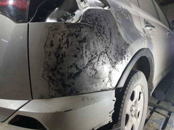 Покраска крыла Toyota